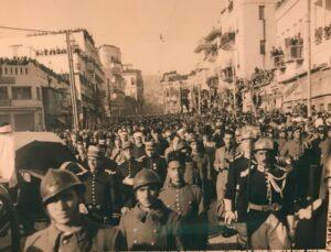 جنازة الرئيس تاج الدين الحسني في دمشق في كانون الثاني 1943.