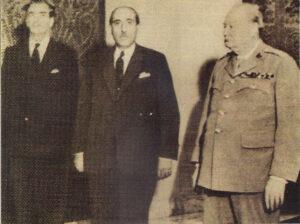 القوتلي وتشرشل سنة 1945