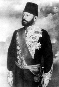 عبد الرحمن باشا اليوسف بلباس التشريفات العثماني.