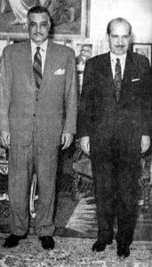 علي بوظو مع الرئيس جمال عبد الناصر