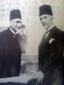 عطا الأأيوبي مع الرئيس هاشم الأتاسي