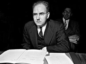 الدكتور زريق في الأمم المتحدة سنة 1946.