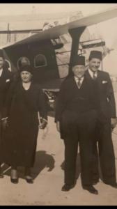 زهراء اليوسف والرئيس محمد علي العابد.