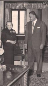 عادلة بيهم الجزائري مع الرئيس جمال عبد الناصر