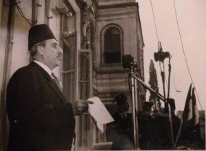 الرئيس القوتلي في عيد الجلاء الأول سنة 1946