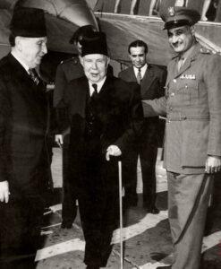 فارس الخوري مع جمال عبد الناصر في القاهرة