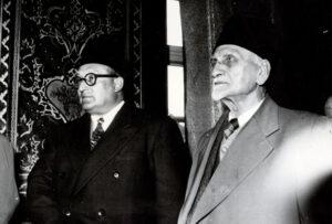 الرئيس العسلي مع الرئيس هاشم الأتاسي