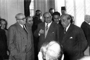 الرئيس العسلي مع الرئيس خالد العظم والرئيس شكري القوتلي