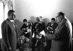 الرئيس العسلي يلقي القسم أمام الرئيس عبد الناصر
