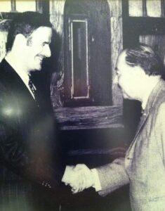 رياض العابد مع الرئيس حافظ الأسد