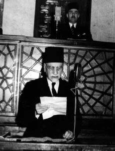 الرئيس الأتاسي في مجلس النواب سنة 1949.