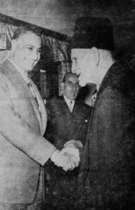 الرئيس الأتاسي مع الرئيس جمال عبد الناصر سنة 1958.