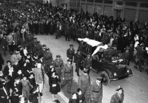 جنازة الرئيس هاشم الأتاسي في 6 كانون الأول 1960.