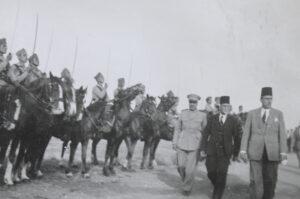 الرئيس الأسبق هاشم الأتاسي مع رئيس الجمهورية شكري القوتلي سنة 1946.