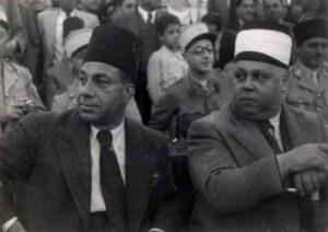 حسني البرازي مع الرئيس تاج الدين الحسني