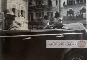 سعد الله الجابري مع رياض الصلح سنة 1943.