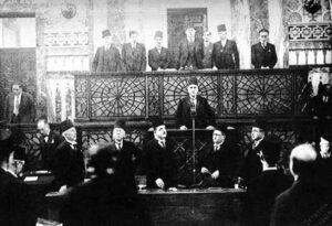 هاشم الأتاسي رئيساً للجمهورية سنة 1936.