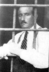 الشهبندر سجيناً سنة 1922.