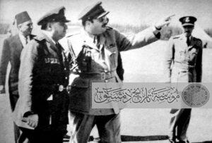 حسني الزعيم والملك فاروق في القاهرة.