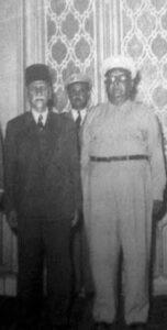 اللواء سامي الحناوي مع الرئيس هاشم الأتاسي سنة 1949.