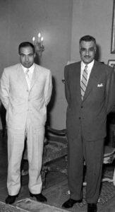 الرئيس عبد الناصر ووزير الداخلية عبد الحميد السراج.