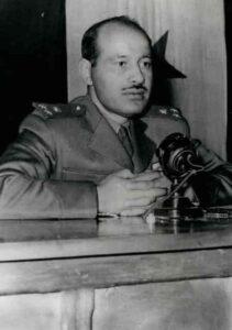 عيف البزرة رئيساً للمحكمة العسكرية سنة 1957.