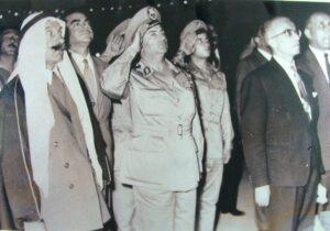 اللواء زهر الدين مع رئيس الجمهورية ناظم القدسي وسلطان باشا الأطرش سنة 1962.