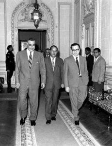 الرئيس لؤي الأتاسي في ضيافة الرئيس جمال عبد الناصر.